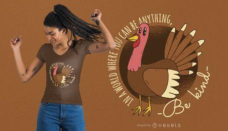 Diseño amable de la camiseta de la acción de gracias de Turquía