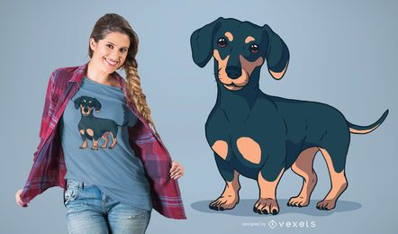 Design do t-shirt do cão do Dachshund