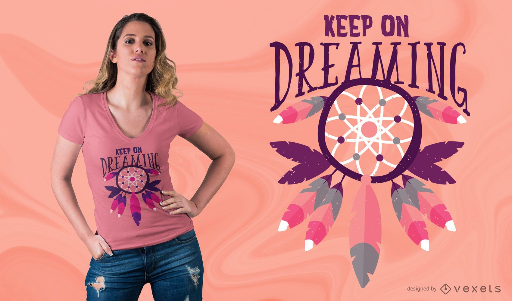 Keep On Dreaming T-shirt Design