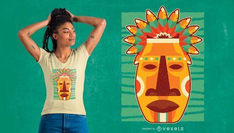 Diseño de camiseta nativa máscara