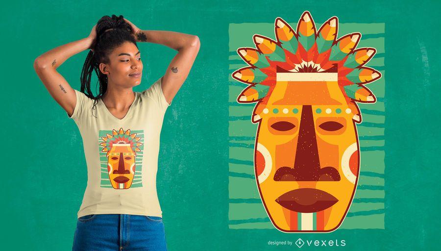 Projeto nativo do t-shirt da máscara