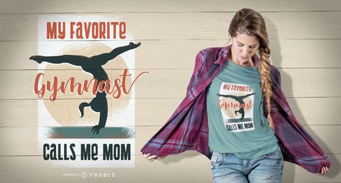 Diseño de camiseta de gimnasta mamá