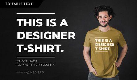 Diseño de camiseta parodia diseñador