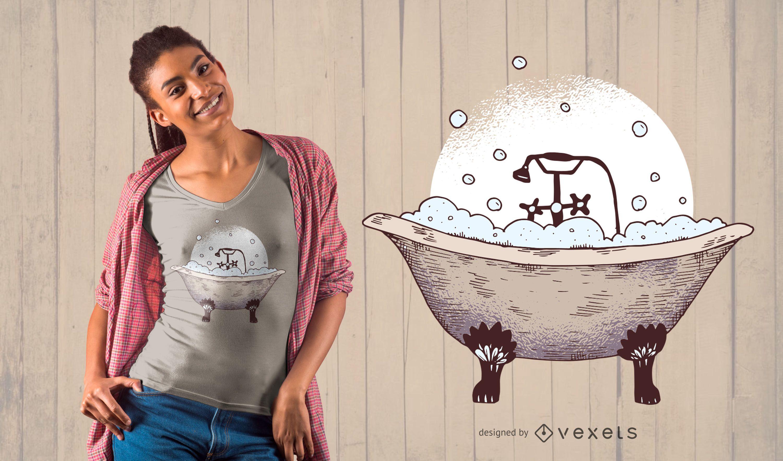 Diseño de camiseta de bañera con patas