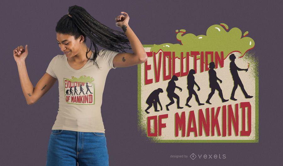 Projeto do t-shirt da evolução de Vaping