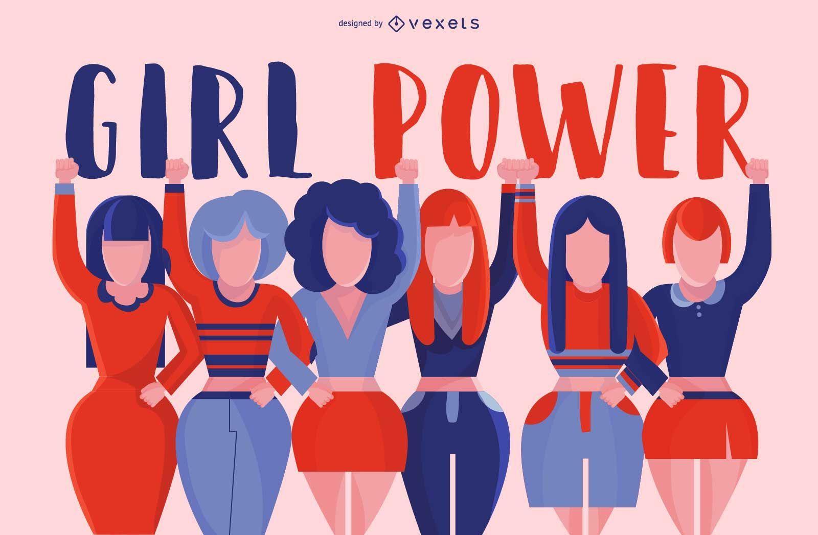Girl power group design