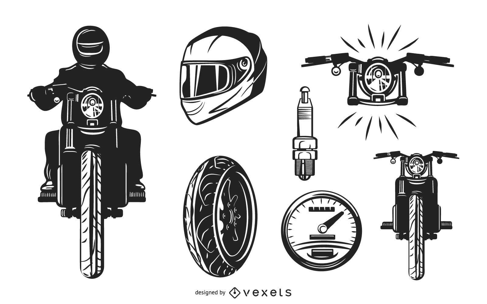 Motorbike elements set