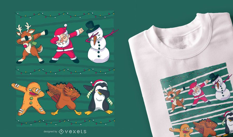 Design de t-shirt dab Natal