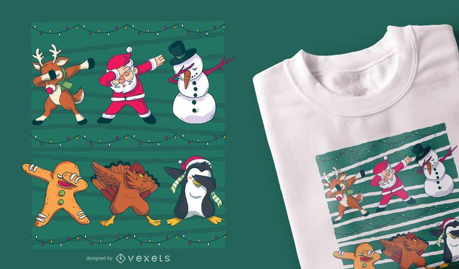 Diseño de la camiseta de Navidad dab