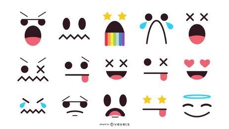 Conjunto de Emoticons Faces