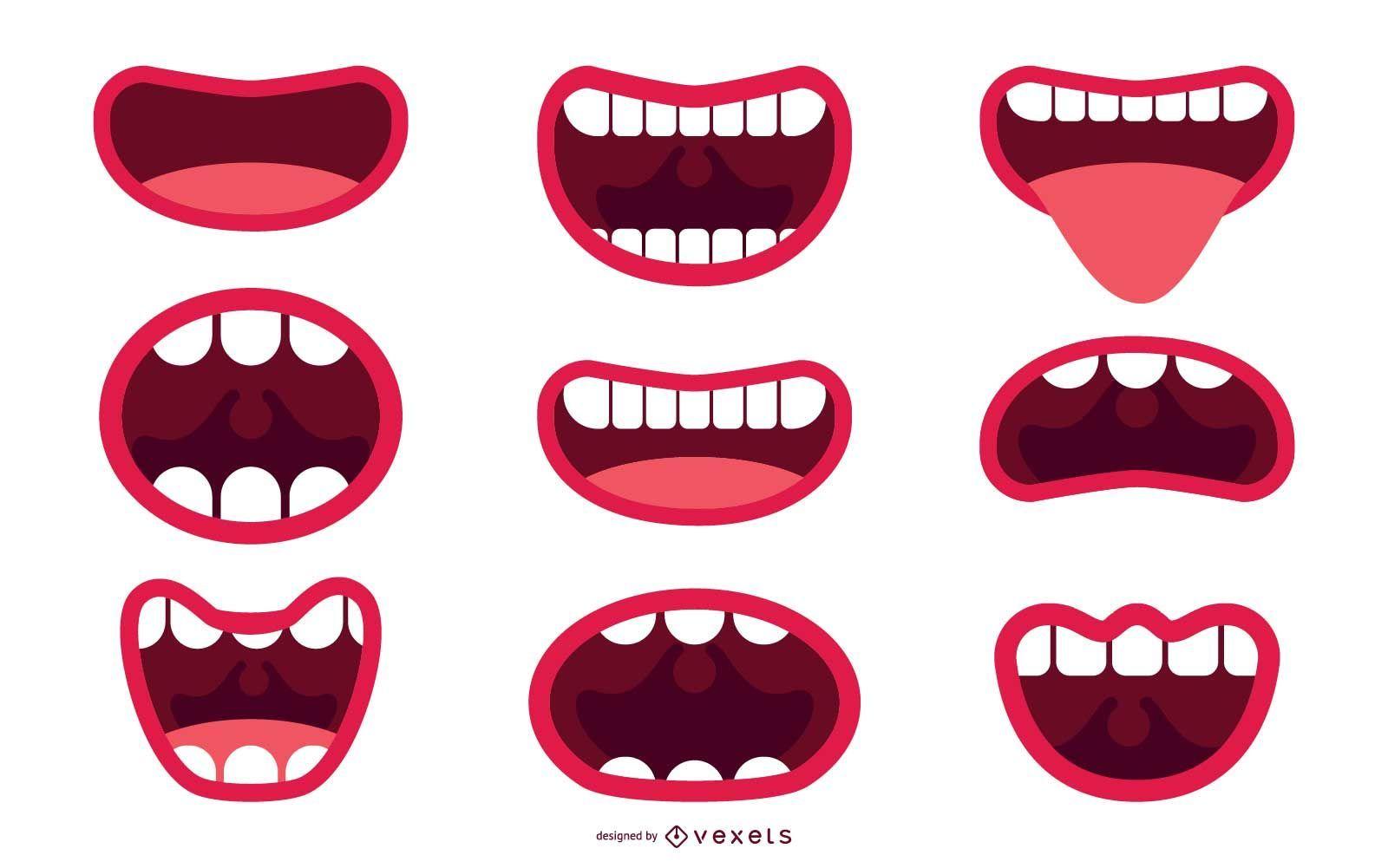 Conjunto de ilustración de boca