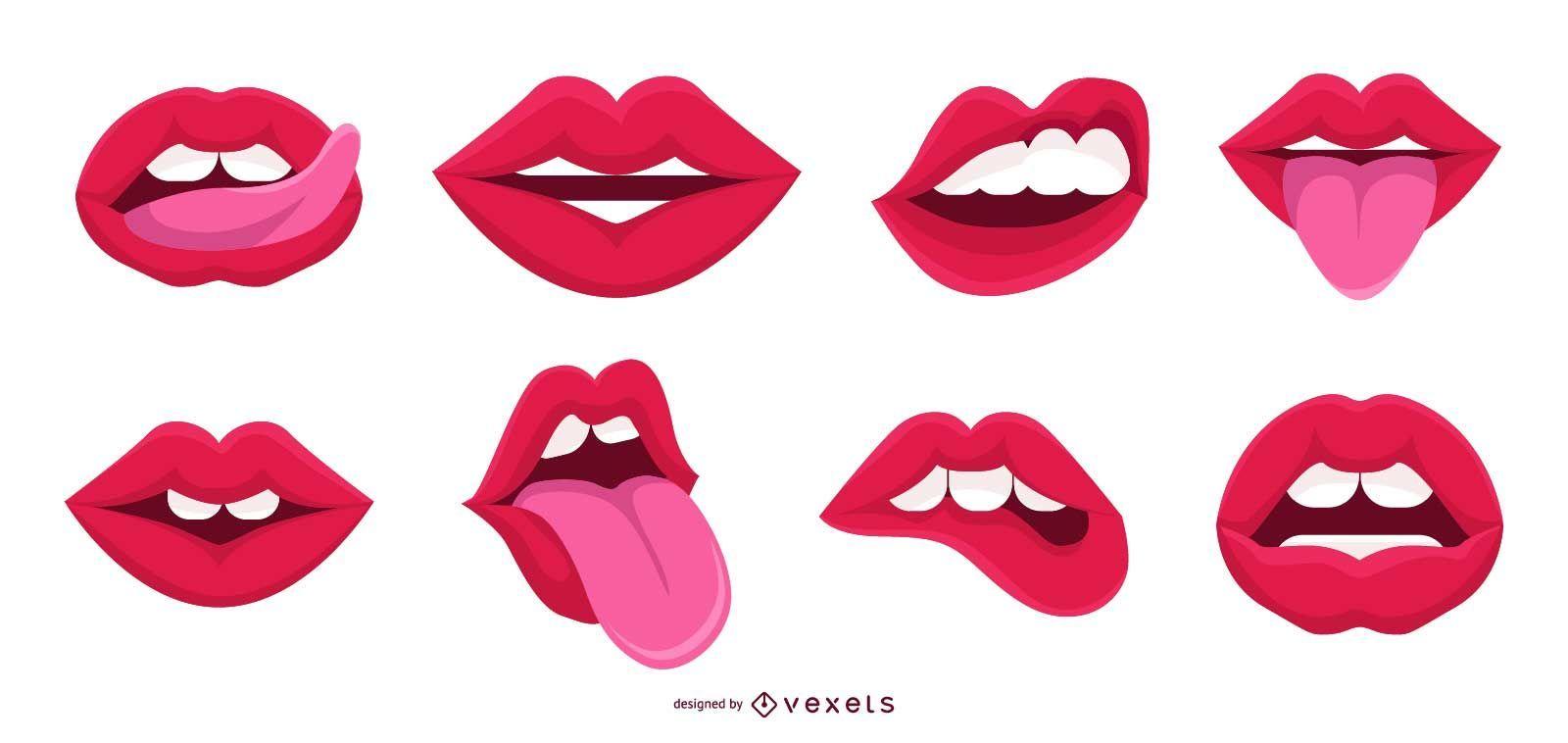 Coleção Mouth Vector
