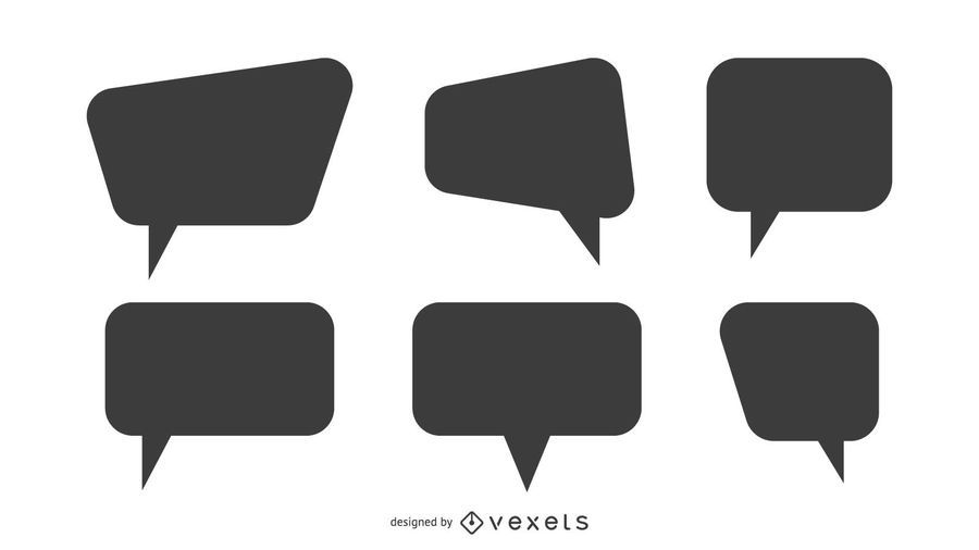Speech Bubble Silhoutte Set