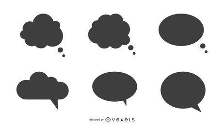 Conjunto de balões de fala