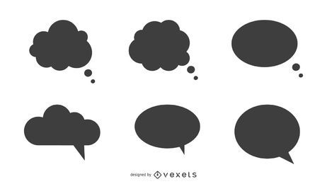 Conjunto de globos de discurso
