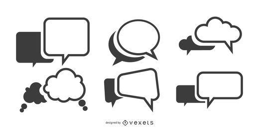 Spracheblasen-Vektorsatz