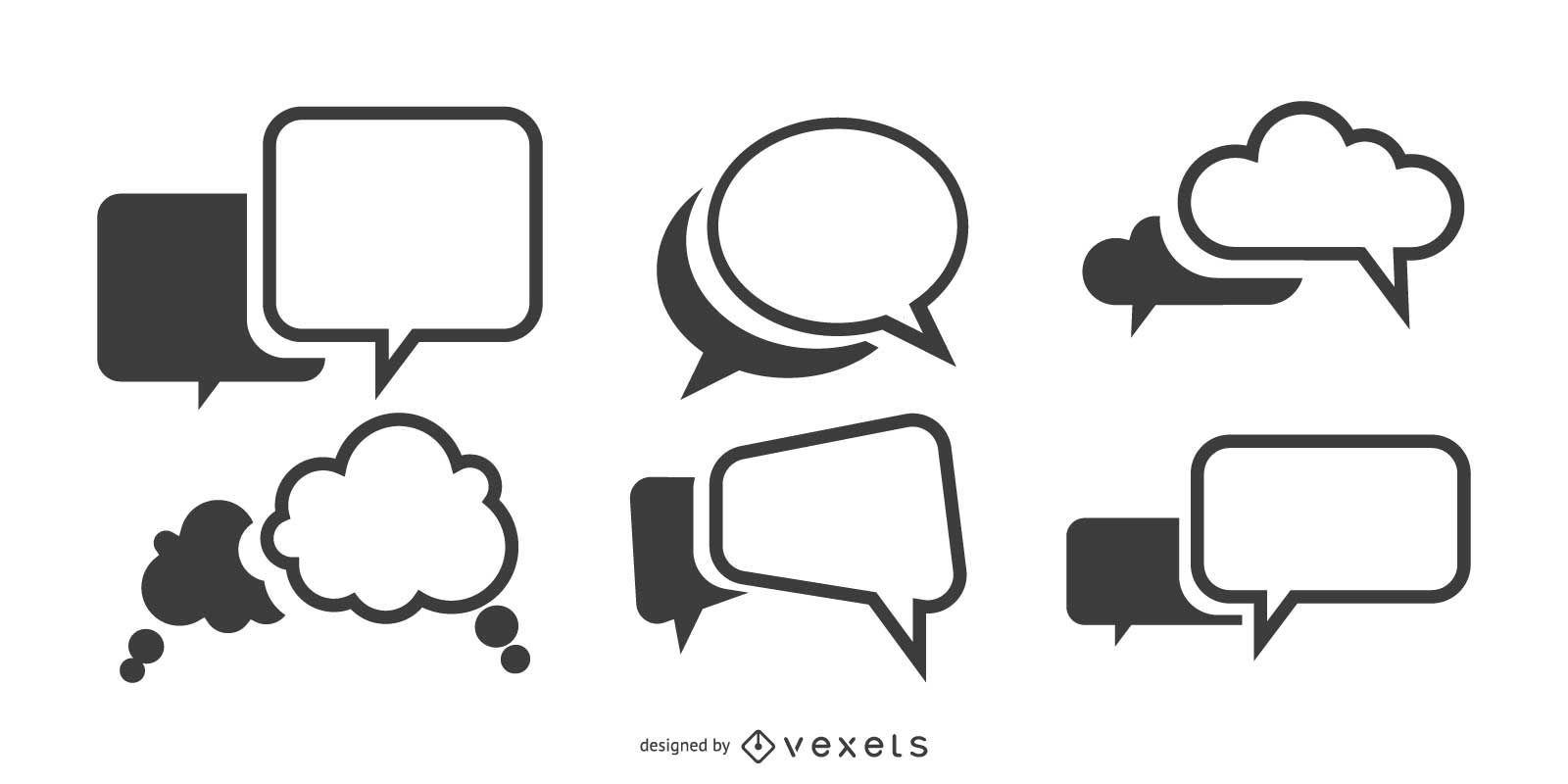 Conjunto de vetores de balões de fala