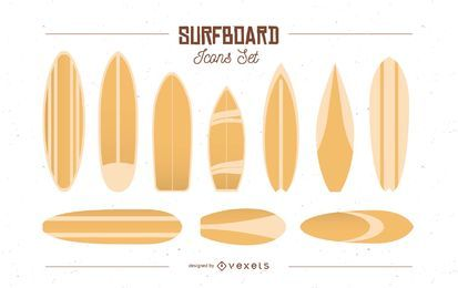Surfboard Icons Set