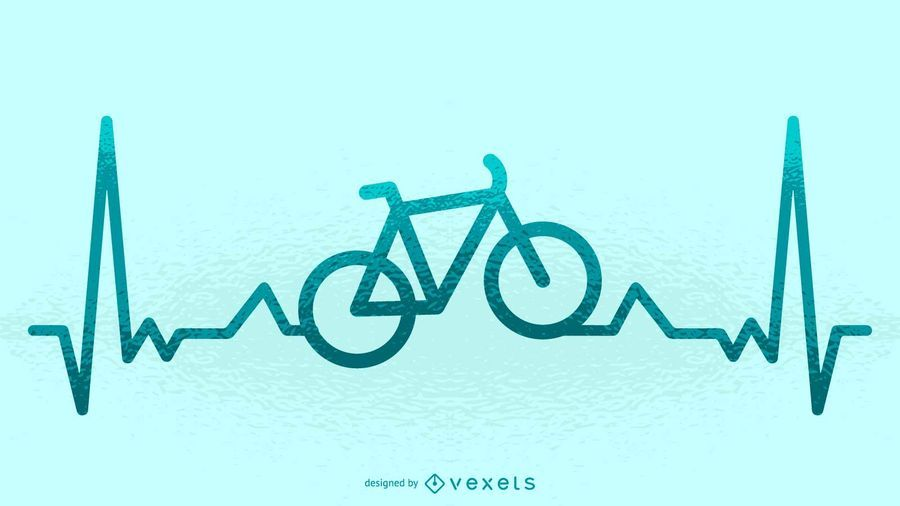 Bike heartbeat illustration