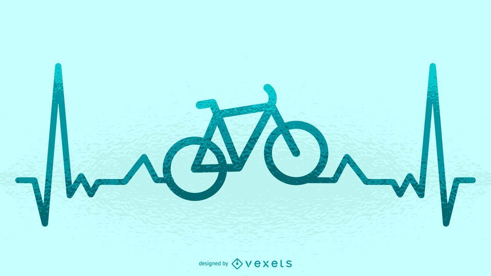 Ilustración de latido de bicicleta