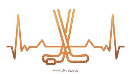 Ilustración de latidos de hockey sobre hielo