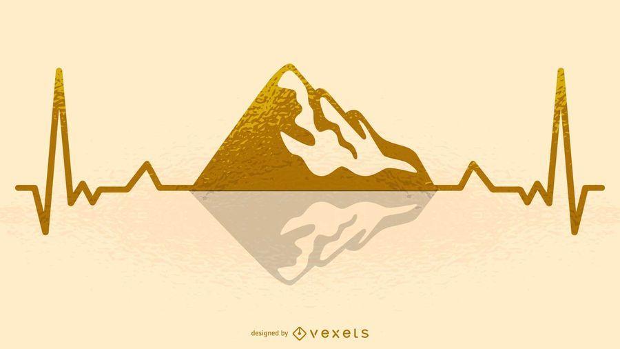 Mountain Hearbeat Illustration