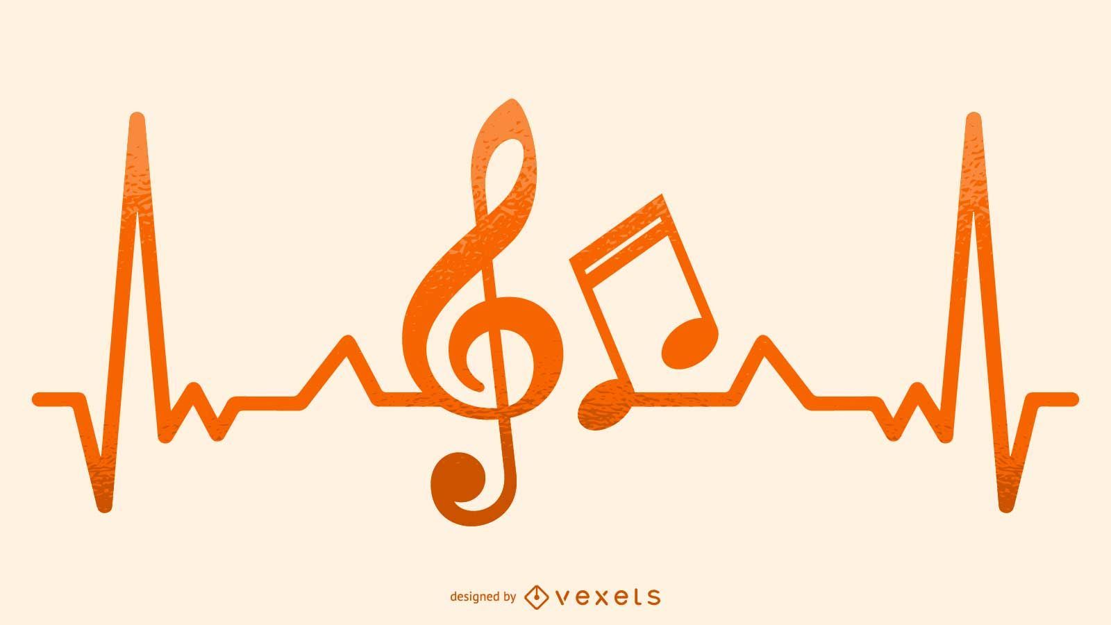 Musical Heartbeat Illustration