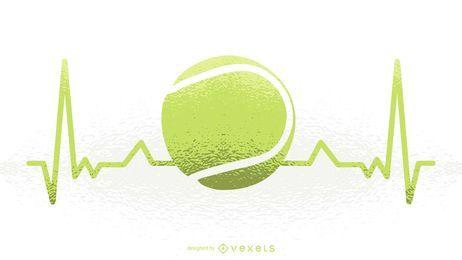 Ilustración de latido del corazón de tenis