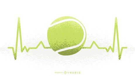 Tennis Heartbeat Illustration