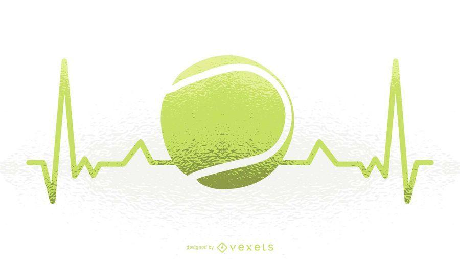 Ilustração de batimento cardíaco de tênis