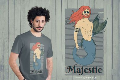 Majestic Merman Design de Camiseta