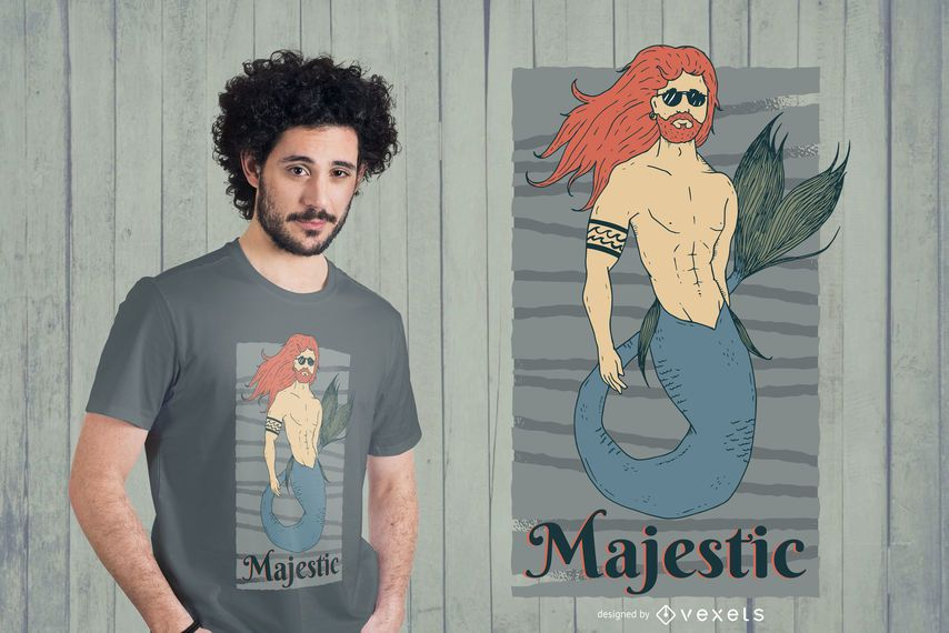 Majestic Merman camiseta de diseño