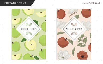 Plantilla de diseño de embalaje de té