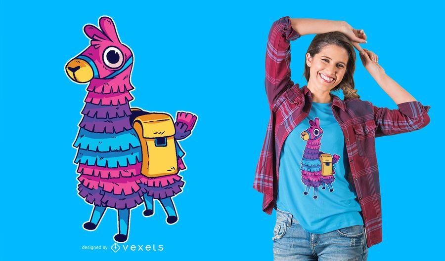 Llama Pinata T-shirt Design