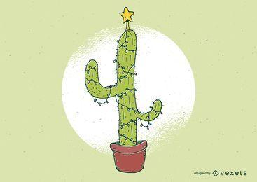Ilustración de cactus de navidad
