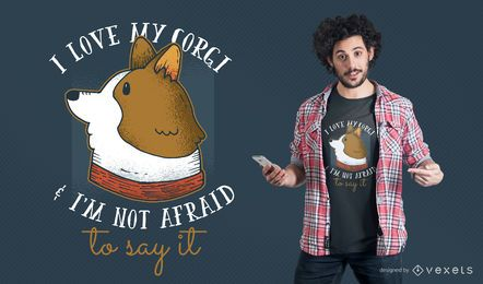 I love my Corgi T-shirt Design