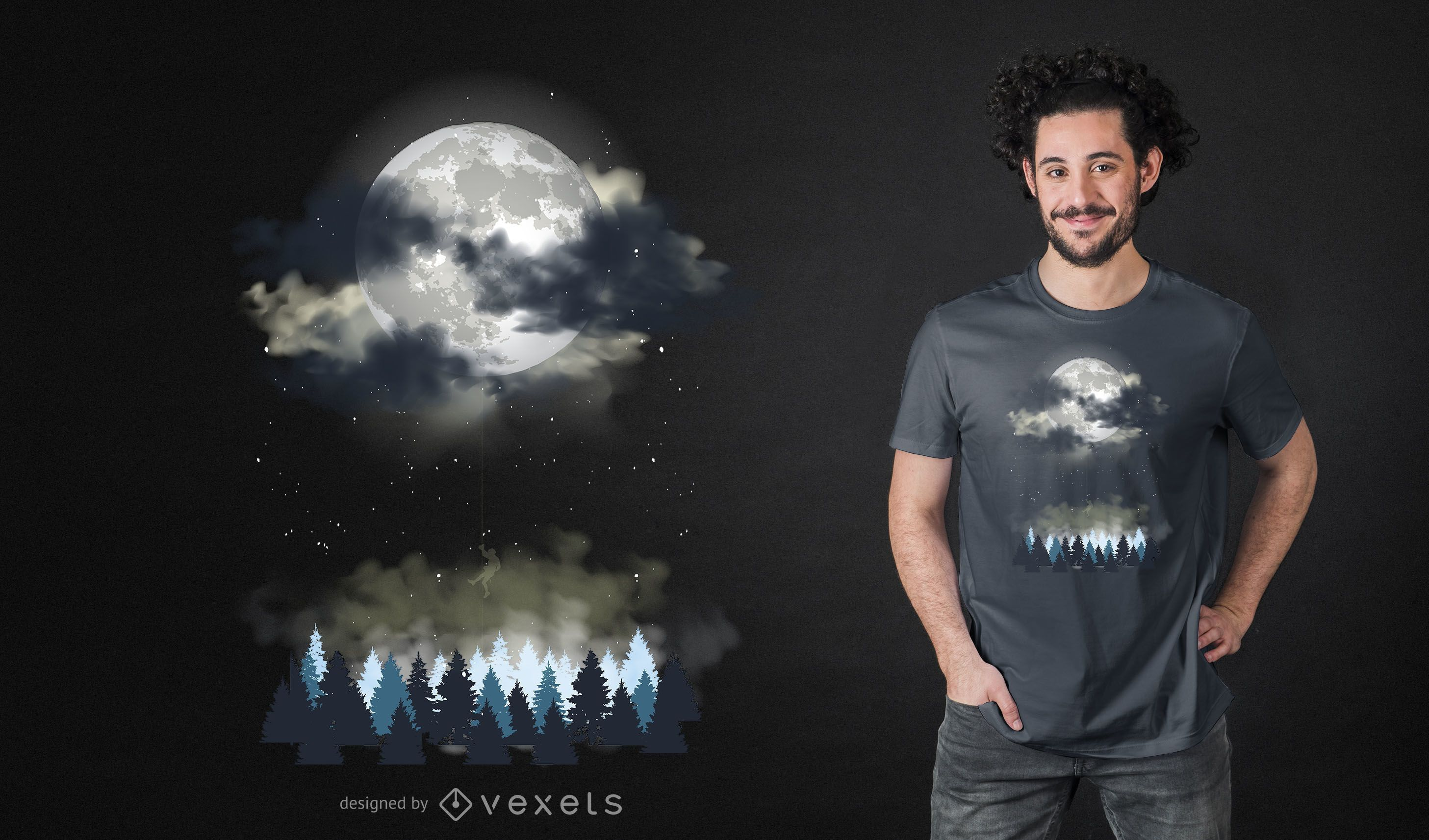 Night Landscape T-shirt Design