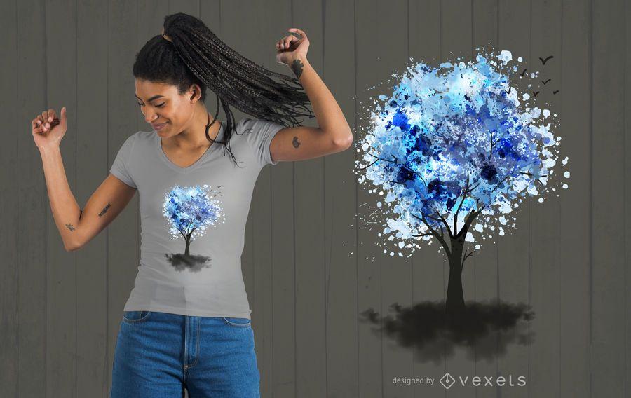 Projeto do t-shirt da árvore da fantasia