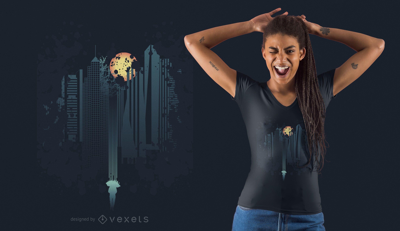 Skyline Fantasy T-shirt Design