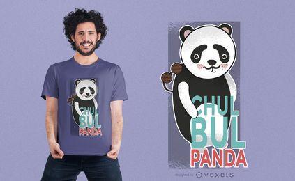 Projeto do t-shirt da panda de Chulbul