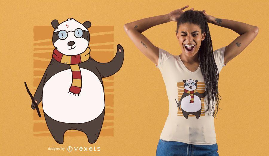 Diseño de camiseta de Potter Panda
