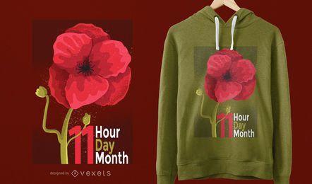 Diseño de camiseta del día de los veteranos