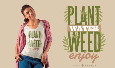 Projeto do t-shirt das citações das plantas