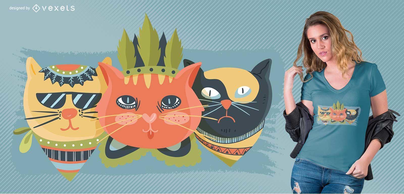 Camiseta Boho Cat