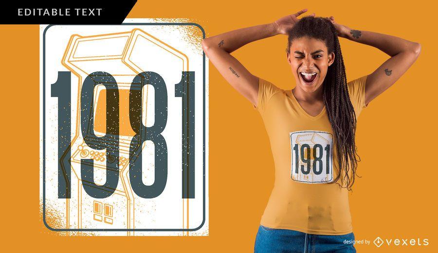 Camiseta Retro 1981