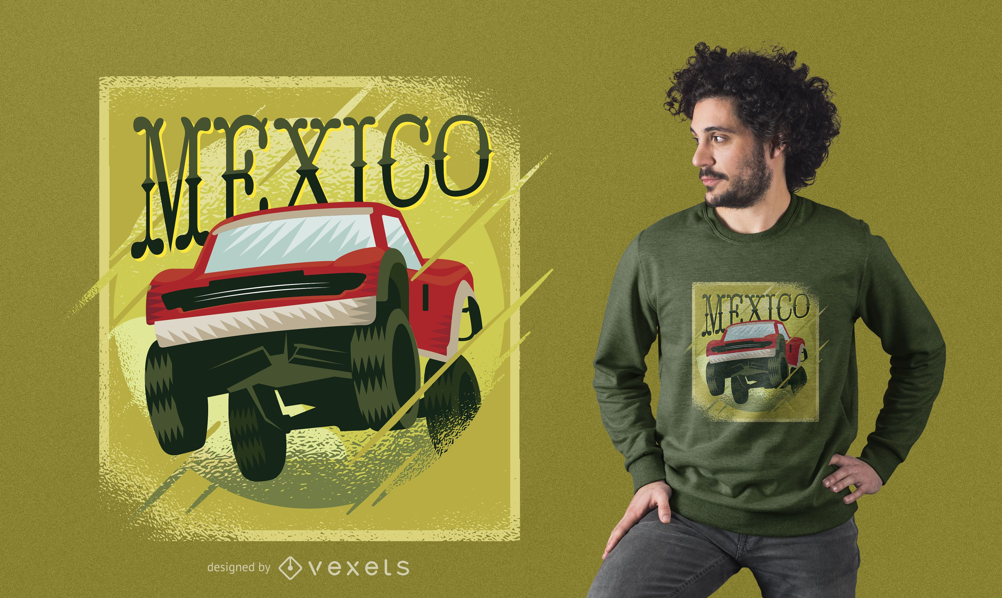 Mexico Super Truck T-Shirt Design