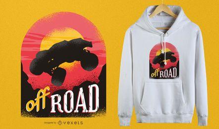 Weg vom Straßen-T-Shirt Design