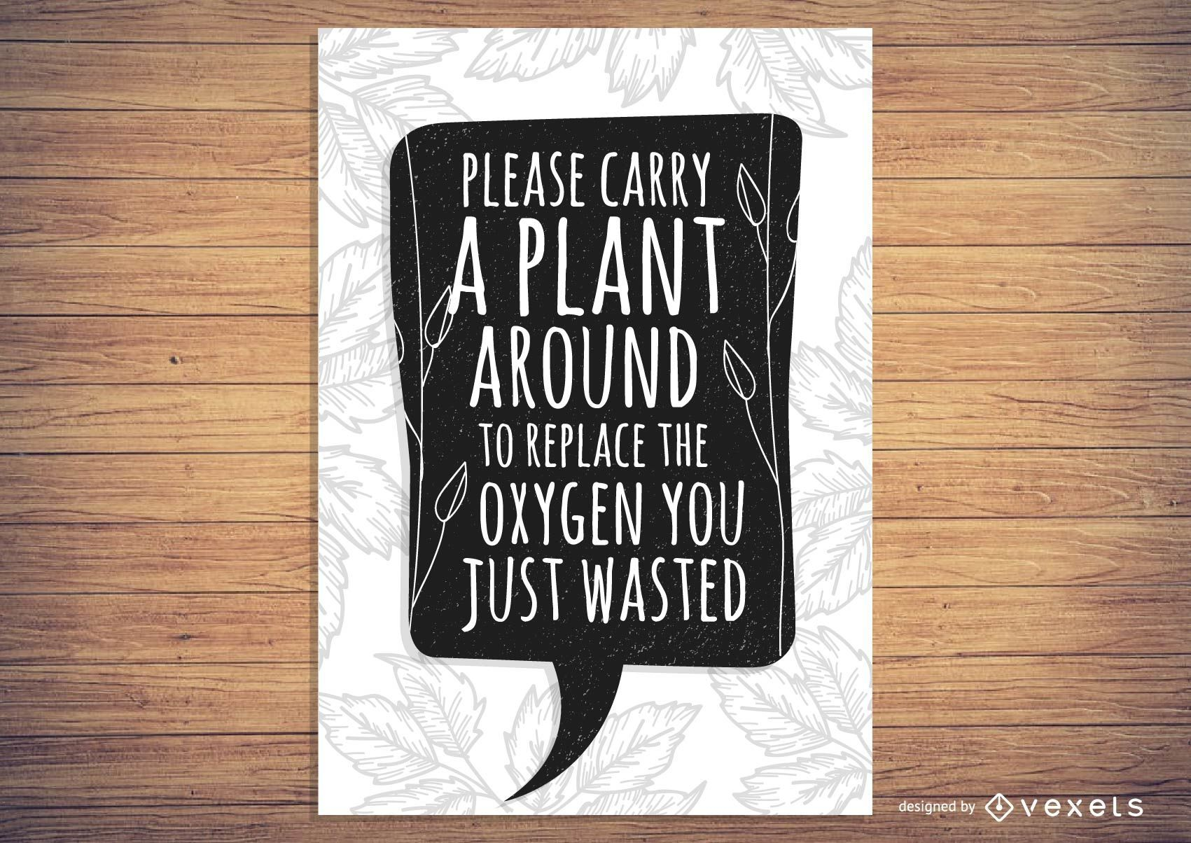 Plant Oxygen Poster