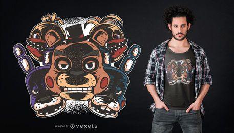 Projeto do t-shirt de Freddys