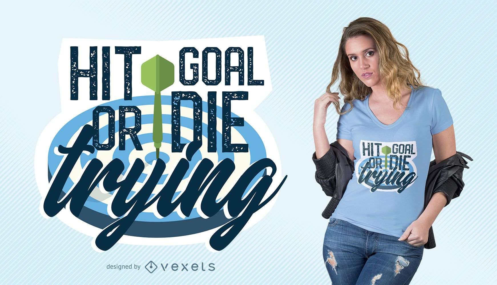 Hit Goal T-Shirt Design